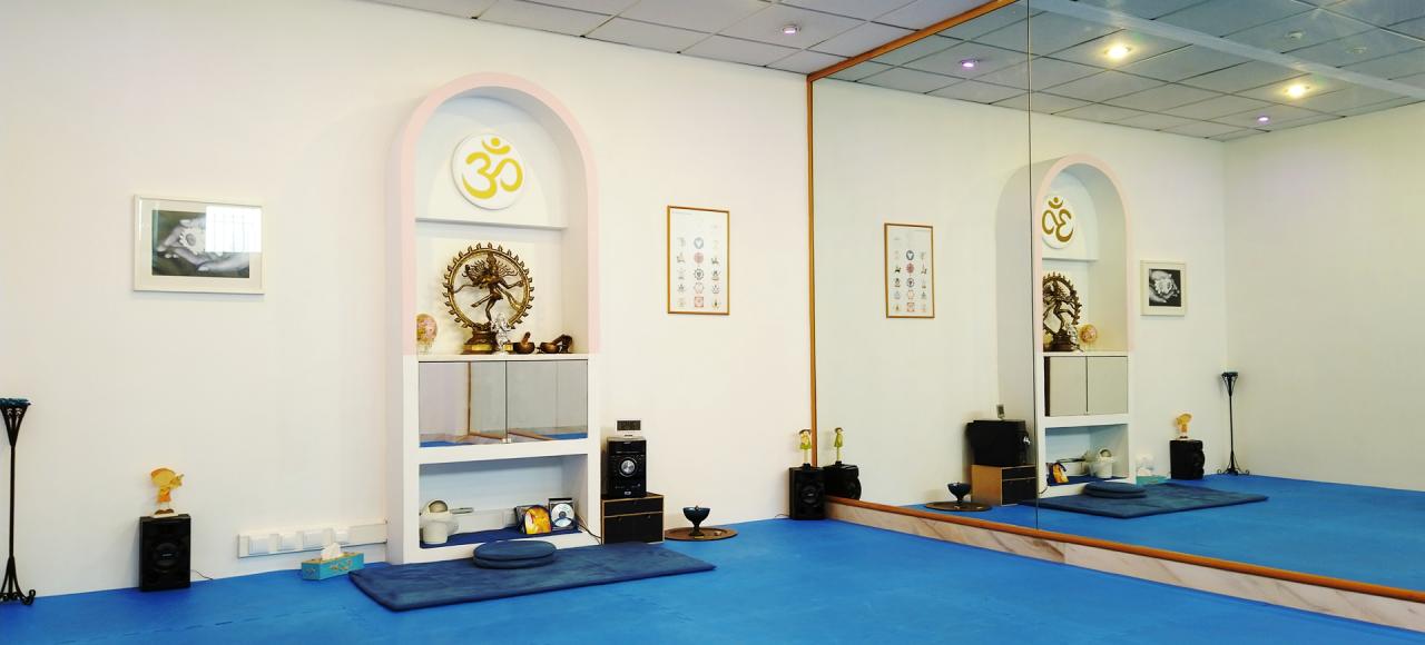 Sala de prática de yoga